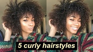 Download 5 Lazy Hairstyles for CURLY HAIR! | Everyday + Quick and Easy Video