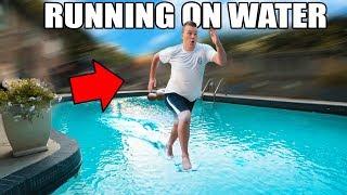 Download RUNNING ON WATER CHALLENGE!! 🏃🏻💧 Video