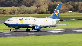 Download West Atlantic Boeing 737-300F Circuit Training at Prestwick Airport October 2018 Video