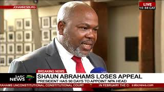 Download Mxolisi Nxasana reacting to ConCourt ruling on Shaun Abrahams Video