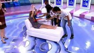 Download Game show girl gets tickled Video