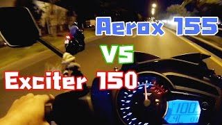 Download Aerox 155 VS Exciter 150 drag racing ( All Standard ) Video