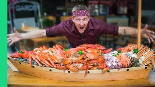 Download 66 POUND SEAFOOD BOAT CHALLENGE (World Record Attempt!) Video