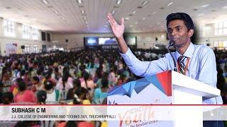 Download Award Winning Speech on Success! Subhash C M Video