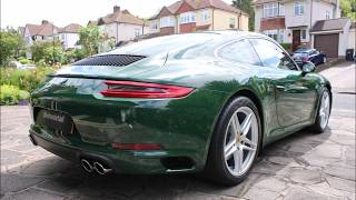 Download Porsche 911 new car detail in paint to sample irish green Video