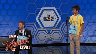 Download Jimmy Kimmel vs. 14-Year-Old Spelling Bee Winner Video