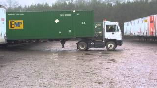 Download Driver backs up in one try.in a very small yard. Video