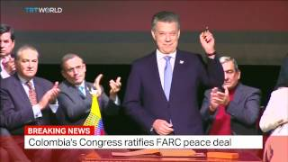 Download Colombia Peace Deal: Colombia's Congress ratifies FARC peace deal Video