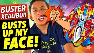 Download Beyblade Battle | Buster Xcalibur Busts Up My Face | Insane Beyblades Burst! Video