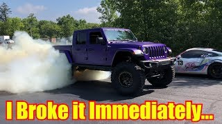 Download BROKE my new Hellcat Jeep Gladiator in 9 Minutes Video