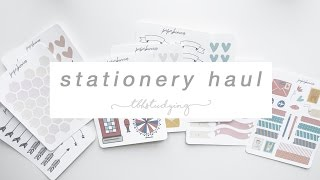 Download stationery haul Video
