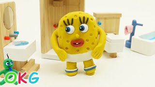 Download Spoiled Baby SpongeBob Morning Activity Video play doh Kids stop motion Video
