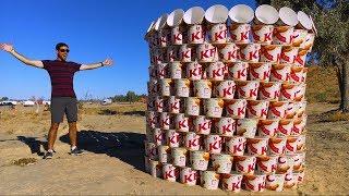 Download GIANT KFC BUCKET BUILD! (500 BUCKETS) Video
