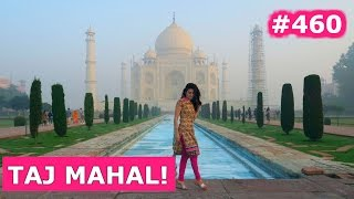 Download MADE IT TO TAJ MAHAL AND HAVING MIND BLOWING INDIAN FOOD | AGRA DAY 460 | INDIA | TRAVEL VLOG IV Video
