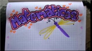 Download marcar un cuaderno de matemáticas para niña Video