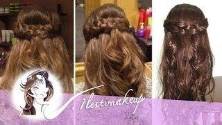 Download Peinado fácil: Semirecogido con ondas y trenzas Video