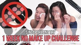 Download Singaporeans (Girls) Try: NO MAKEUP FOR A WEEK! | EP 73 Video