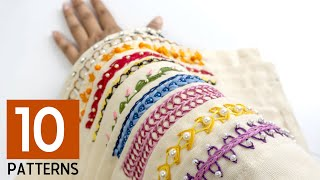Download 10 Hand Embroidery Border Designs: Stitching Ideas for Dress Video