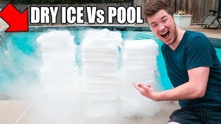 Download 1,500 POUNDS OF DRY ICE Vs POOL CHALLENGE! 😮 Video