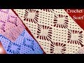 Download Bufanda o chalina en punto rombos filigranas tejido a Crochet tallermanualperu Video
