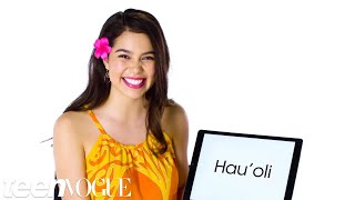 Download Hawaiian Pronunciation Guide With Moana's Auli'i Cravalho | Teen Vogue Video
