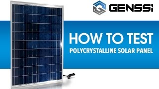 Download How to Test a Solar Panel Voltage and Current Video