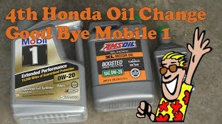 Download 4th Honda Oil change with oil filter cut open|Good bye Mobil One??? Video