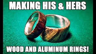 Download Making his and hers wood burl and aluminum rings! Video