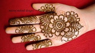 Download easy simple mehndi designs for hands: Matroj Mehndi Designs Video