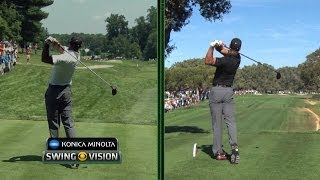 Download Tiger Woods' swing changes analyzed at the 2014 Quicken Loans National Video