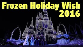 Download ″Frozen Holiday Wish″ Cinderella Castle Lighting 2016 | Magic Kingdom Video