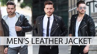 Download HOW TO STYLE A LEATHER JACKET | Men's Fashion | Outfit Inspiration 2017 Video