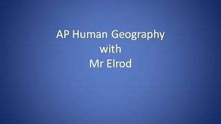 Download AP Human Geography - Land Use Patterns Review Video