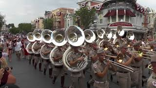 Download Fightin' Texas Aggie Band March down Main Street at Disneyland - 9/2/17 Video