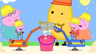 Download Peppa Pig Official Channel | Peppa Pig and George Drive Real Diggers Video