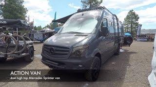 Download 4x4 high top camper van with a toilet by Action Van : Overland Expo 2018 Video