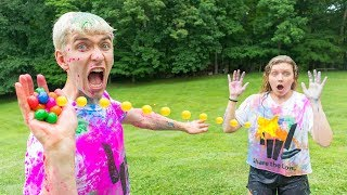 Download NERF RIVAL PAINT WAR!! (SIS VS BRO) Video