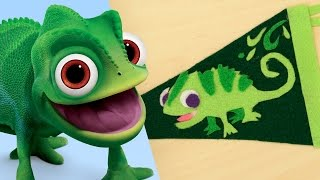 Download Disney's Tangled Pascal Pennant Flag | Disney DIY by Disney Family Video