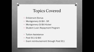 Download Military Education Benefits Explained Video