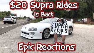 Download $20 Supra Rides Is Back... Epic Reactions! Video