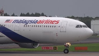 Download Malaysia Airlines Airbus A330-300 9M-MTN Landing at NRT 34R Video