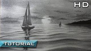 Download Cómo Dibujar un Velero en el Mar a Lápiz Paso a Paso - Dibujo de un Barco Video