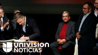 Download El Gobierno de Colombia y la guerrilla de las FARC firmaron el nuevo acuerdo de paz en Bogotá Video
