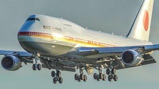 Download BOEING 747 LANDING - AF1 of JAPAN arriving at Amsterdam Schiphol (4K) Video