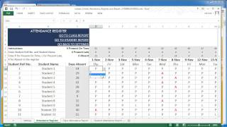 Download School Attendance Register and Report Excel Template v2 Video