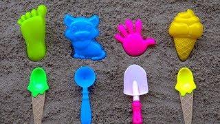 Download Aprenda Сores e números com sorvetes coloridos y moldes de areia | Vídeo para crianças Video