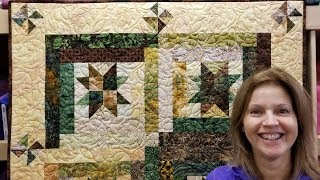Download Part 1: Starry Log Cabin Quilt From a Jelly Roll! Video