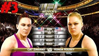 Download EA Sports UFC Ronda Rousey Versus Cat Zingano | Let the BLOOD Hit the Floor! Ep.3 [PS4 HD] Video