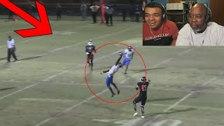 Download Dad Reacts to INSANE HIGH SCHOOL FOOTBALL PLAYS! Video