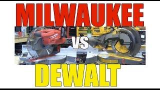 Download DeWALT Flexvolt vs Milwaukee Cordless Miter Saw - We Choose One Video